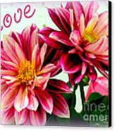 Love And Flowers Canvas Print by Kathy  White