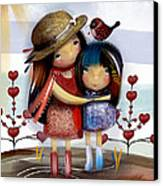 Love And Friendship  Canvas Print by Karin Taylor