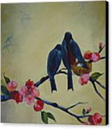 Love Birds Empty Nest Canvas Print by Kelley Smith