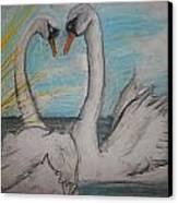 Love Birds Canvas Print by Jake Huenink
