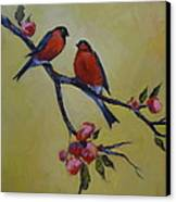 Love Birds Canvas Print by Kelley Smith