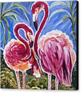 Love Flamingos  Canvas Print
