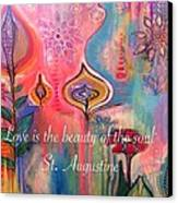 Love Is The Beauty Canvas Print by Robin Mead