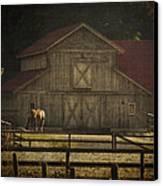 Love Of Country Vintage Art By Jordan Blackstone Canvas Print by Jordan Blackstone