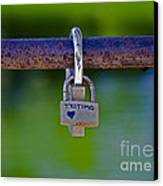 Love Padlock Canvas Print