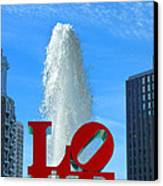 Love Park Canvas Print by Olivier Le Queinec