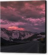 Loveland Pass Sunset Canvas Print by Michael J Bauer