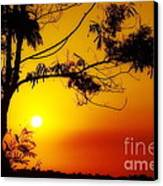 Lovely Sunset Canvas Print by George Paris