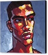 Loves Football Canvas Print by Douglas Simonson