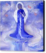 Loving Angel Of Peace Canvas Print by Sherri's Of Palm Springs
