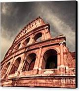 Low Angle View Of The Roman Colosseum Canvas Print by Stefano Senise