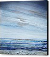 Low Newton Beach Rhythms And Textures 3 Canvas Print by Mike   Bell