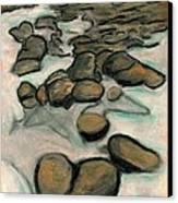 Low Tide Canvas Print by Carla Sa Fernandes