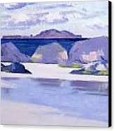 Low Tide  Iona Canvas Print by Francis Campbell Boileau Cadell