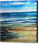 Low Tide Wells Beach Maine Canvas Print