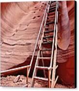 Lower Antelope Canyon Ladder Canvas Print