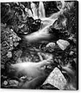 Lower Bridal Veil Falls 3 Bw Canvas Print