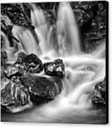 Lower Bridal Veil Falls 5 Bw Canvas Print