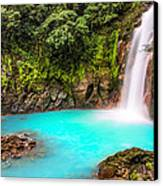 Lower Rio Celeste Waterfall Canvas Print by Andres Leon