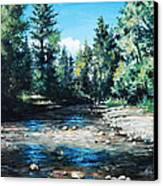 Lowry Creek Run Canvas Print by Mike Worthen