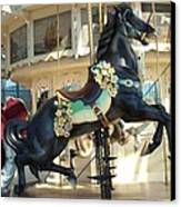 Lucky Black Pony - Syracuse Ptc No 18 Canvas Print