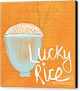 Lucky Rice Canvas Print by Linda Woods