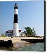 Ludington Michigan's Big Sable Lighthouse Canvas Print by Michelle Calkins