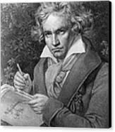 Ludwig Van Beethoven Canvas Print by Joseph Carl Stieler