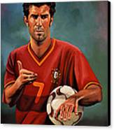 Luis Figo Canvas Print by Paul Meijering