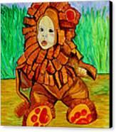 Lukas The Lion Canvas Print by Pilar  Martinez-Byrne