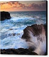 Lumahai Sea Explosion Canvas Print