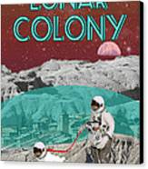 Lunar Colony Coming Soon Advertisement Canvas Print by