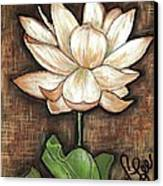 Lure Of The Lotus Canvas Print by VLee Watson