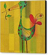 Lutgarde's Bird - 061109106y Canvas Print by Variance Collections