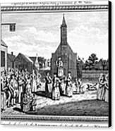 Lutheran Wedding, 1700s Canvas Print by Granger