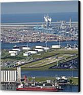 Maasvlakte, Europort, Rotterdam Canvas Print by Bram van de Biezen