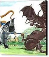 Macduff And The Dragon Canvas Print by Margaryta Yermolayeva