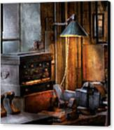 Machinist - My Workstation Canvas Print by Mike Savad