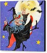 Mad Millie Moon Dance Canvas Print by Richard De Wolfe