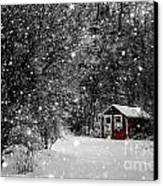 Made In Maine Winter  Canvas Print