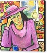Mademoiselle Espame Canvas Print by Chaline Ouellet