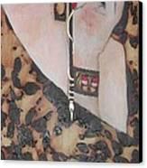 Mademoiselle Rebecca Tacosa Gray Canvas Print by Rebecca Tacosa Gray