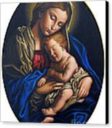 Madonna And Child Canvas Print by Jane Whiting Chrzanoska