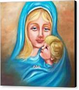 Madonna And Child Canvas Print by Joni McPherson