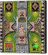 Madonna Of Valladolid Mexico Canvas Print by Ron Morecraft
