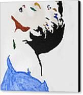 Madonna True Blue Canvas Print by Stormm Bradshaw