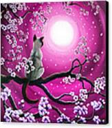 Magenta Morning Sakura Canvas Print