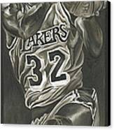 Magic Johnson - Legends Series Canvas Print by David Courson