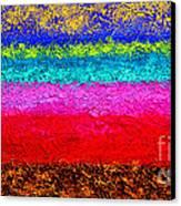 Magic Sunrise - Abstract Oil Painting Original Metallic Gold Textured Modern Contemporary Art Canvas Print by Emma Lambert