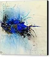 Magical Blue-abstract Art Canvas Print by Ismeta Gruenwald